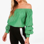 boohoo-designer-green-Alexis-Off-The-Shoulder-Ruffle-Blouse1